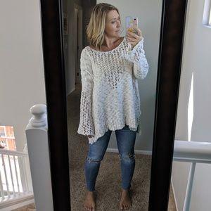 Free People Knit Slub Cotton Sweater Size Small